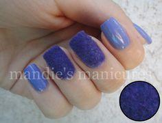 Pinned by www.SimpleNailArtTips.com TUTORIALS - Flocked, fuzzy purple nail art manicure tutorial #nails