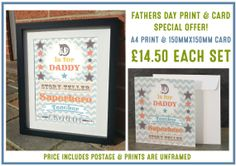 D is for Daddy  Special Offer FATHERS DAY by JLWIllustration, £11.50