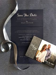 loveleigh invitations // classic + clean magnet save the date with custom printed pocket