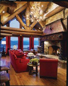 Stunning Lakefront  Log Home in Topton