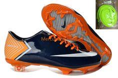 Mercurial Vapor X(10) FG Dark Blue Volt Orange Boots Chuteiras c04a2c9f47436