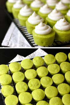 Lime Baby Cakes   Click Pic for 20 Easy St Patricks Day Food Ideas   Easy St Patricks Day Recipes for Kids