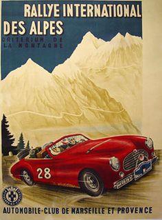 Rallye International des Alpes, 1950's, Automobile Club de Marseille et…