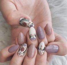 Cute Acrylic Nails, Cute Nails, Pretty Nails, Gel Nails, Coffin Nails, Pastel Nail Art, Spring Nail Colors, Nail Designs Spring, Nail Art Designs