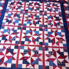 Freshly pieced valor quilt! Before the Longarm stitching was done!