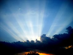 pictures of sunrise sunsets with sunrays - Google Search