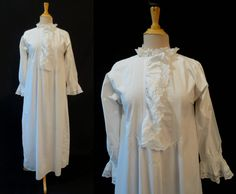 Antique, Victorian, Lace Trimmed  Nightgown by LouisaAmeliaJane on Etsy