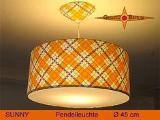 Gruzdz-Berlin: Leuchten, Lampenschirme, Lichtobjekte - Leuchte SUNNY Ø 45 cm, Pendellampe mit Diffuser und Baldachin, Retro