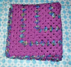 Receiving blanket Orchid and Monet Pentagon shape by dnjcrafts, $20.00