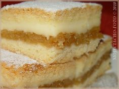 Apple pie with pudding Polish Desserts, Polish Recipes, Baking Recipes, Cake Recipes, Dessert Recipes, My Favorite Food, Favorite Recipes, Traditional Cakes, Christmas Appetizers