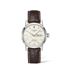 Discover the Watches of The Longines created by merging tradition with a watchmaking expertise beyond compare! Fancy Watches, Mens Watches For Sale, Vintage Watches, Black Mother, Timeless Elegance, Automatic Watch, Stainless Steel Watch, Traditional, Classic