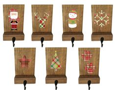stocking holder mantle stockings reclaimed wood by TheWoodenOwl