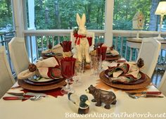 A Woodland Themed Table Celebrating the Beauty of the Northwoods Forest