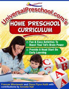 universalpreschool.com: cognitive development & a typical course of study for preschool