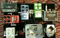 Pedalboard used strictly for an acoustic guitar rig. Lots of TC Electronic love!