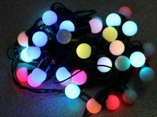 6 M 40 LED forme De Boule lampe Chaîne Fée Lumière Changement de couleur RVB De Noël De Mariage Xmas party accueil arbre décoration 220 V(China (Mainland))