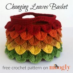 Changing Leaves Basket - free crochet pattern on Mooglyblog.com!