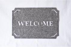 Light grey felt place mat x 2     - welcome mat design by Touchee Feelee