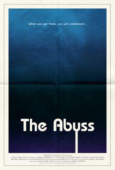 Poster for The Abyss by Scott Saslow. #theabyss #jamescameron #galeannehurd #edharris #maryelizabethmastrantonio #michaelbiehn #toddfield #kimberlyscott #sciencefiction #aliens #underwater #80s #movieposter #graphicdesign #posterdesign #fanart #alternativefilmposter #alternativemovieposter
