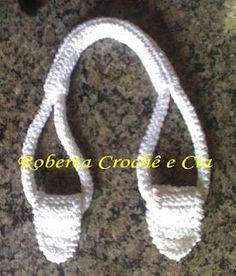 Crocheted purse handles (English translation)