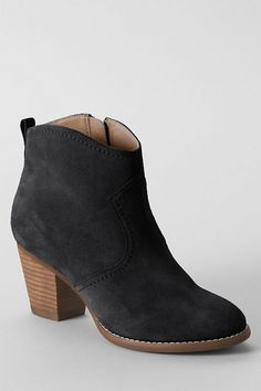 I need a pair of booties.Women& Harris Suede Ankle Boots from Lands& End Suede Ankle Boots, Shoe Boots, Shoes Sandals, Shoe Bag, Black Ankle Boots, Crazy Shoes, Me Too Shoes, Dream Shoes, Mode Shoes
