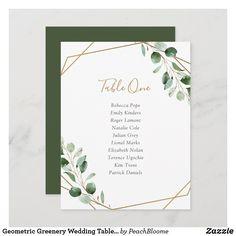 Geometric Greenery Wedding Table Seating Cards Table Seating Cards, Reception Seating Chart, Wedding Table Seating, Table Name Cards, Personalized Invitations, Custom Invitations, Wedding Invitations, Invites, Wedding Prints