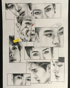 FanBook : Fan Art Social Platform I grouped the above mentioned questions about the pencil drawing that I received and … Baekhyun, Witchy Wallpaper, Comic Book Layout, Exo Anime, Exo Fan Art, Kpop Drawings, Kpop Fanart, Anime Art Girl, K Pop