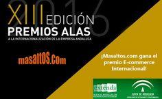 ¡Seguimos creciendo cada día 7cm más! La Consejería de Economía y Conocimiento de la Junta de Andalucía, a través de Extenda, nos ha concedido el premio ALAS 2016 al mejor E-commerce internacional. #ecommerce #extenda #masaltos http://www.masaltos.tv/2016/07/14/masaltos-ganadora-premio-alas-ecommerce-internacional/