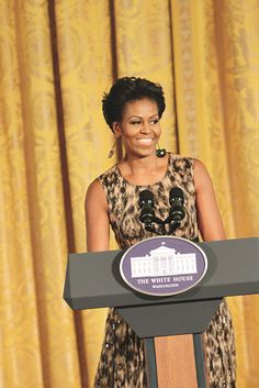 Spotted!: Leopard Print Through the Years (First Lady Michelle Obama at the Smithsonian's Cooper-Hewitt National Design Awards at the White House, 2011.)  [Photo by Jonah Koch/WWD Archive]