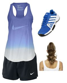 """""""Band Camp Outfit!"""" by flutegirl2 ❤ liked on Polyvore featuring moda, NIKE, adidas ve Love Hair Extensions"""