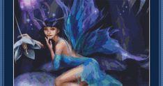 Night Forest Fairy 101111239 Free Cross Stitch Pattern  =========================================== Fabric: 14 count Black Aida  Stitches: 2...