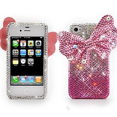 Luxury #Crystal 3D Diamante Protector Case for #iPhone 4S / iPhone 4, #Butterfly Pink $36.99 From #DayDeal