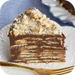 Bolo biscoito com brigadeiro ou Torta de palha italiana