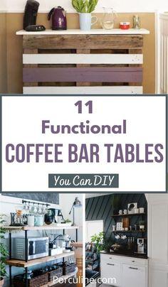 Home Hacks, Repurposed Furniture, Diy Home Decor, Coffee Bars, Diy Projects, Bar Cart, Table, Farmhouse, Decorating