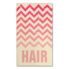 Hair Stylist Business Card - Cracked Pink Ombre by Jill's Paperie