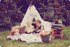 styled photo shoot, children, books, teepee