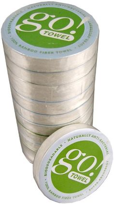 GO! Towel 100% Organic Bamboo Compressed Towels (10-pack)