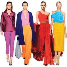 Bold colour on the catwalk