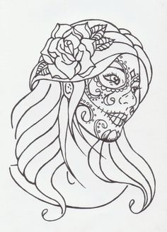 sugar skull girl by avengedginge coloring pages printable and coloring book to print for free find more coloring pages online for kids and adults of sugar - Sugar Skull Tattoo Coloring Pages