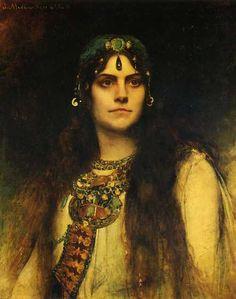 Rose Caron as Salammbo () Léon-Joseph Bonnat (Francia, 1833-1922)