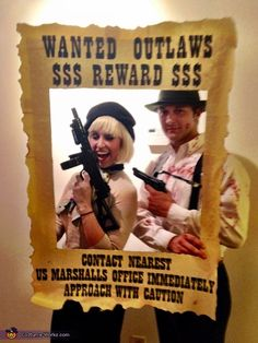 Samantha: My boyfriend and I decided to dress up as Bonnie and Clyde this Halloween. We were inspired by a TV series about the couple and the fact that they met...
