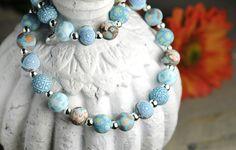 Peacock Teal Medium Silverball Necklace $32.99 http://jilzarah.com/shop/collections/peacock-teal/petite-silverball-necklace/
