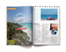 OC Register Family's Summer Travel Guide #layout #magazine #travel