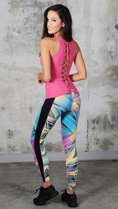 Gem -Print-Yoga-Leggings These Gem Print leggings will make you the most fabulous person at yoga class. #activewear #yoga #leggings