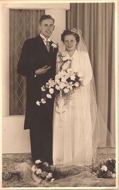 Deurne 26-06-1951 (Lievendag-Jacobs) Wedding Gowns, Weddings, Fashion, Homecoming Dresses Straps, Moda, Bridal Gowns, Wedding Dressses, La Mode, Wedding Dresses