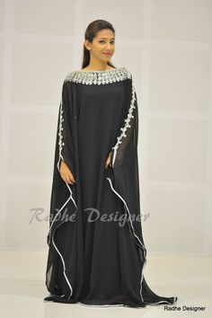 Chiffon Sleeve Formal Regular Size Dresses for Women Kaftan Abaya, Kaftans, Kaftan Style, Floor Length Gown, Ramadan, African Fashion, Sarees, Chiffon, Gowns