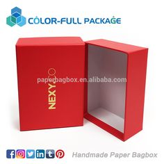 colorfull handmade Cardboard Clothing Packaging Paper Box