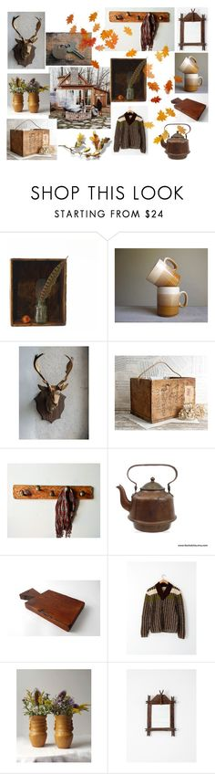 """""""Cabin Retreat"""" by vintageandmain ❤ liked on Polyvore featuring interior, interiors, interior design, home, home decor, interior decorating, Towne, rustic, vintage and vintagedecor"""