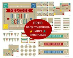 As Our Back To School Week Continues, We Couldn't Leave Free Printables Out Of The Roundups And We Must Say There Are Some Fabulously Lovely Ones Out There! Back To School Party, Welcome Back To School, Back To School Teacher, 1st Day Of School, Back To School Gifts, School Parties, School Fun, School Days, School Week