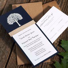Winter Wedding Invitations . Wedding Invitations . Wedding Invites . Rustic Wedding Invitations . Tree Wedding Invitations . Twine Wrapped by ArielShulerDesign on Etsy https://www.etsy.com/listing/163849305/winter-wedding-invitations-wedding